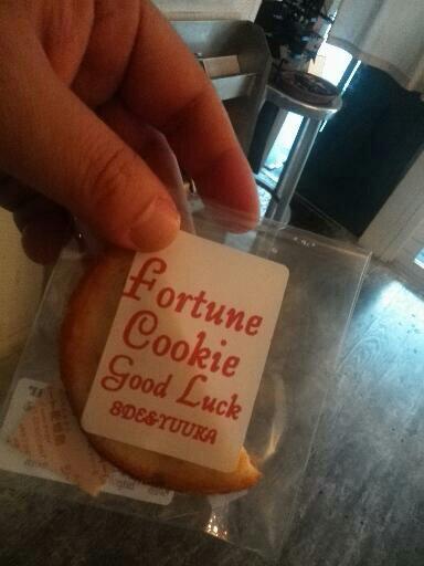 フォーチュンクッキーを、ランチついでに。結果は・・・
