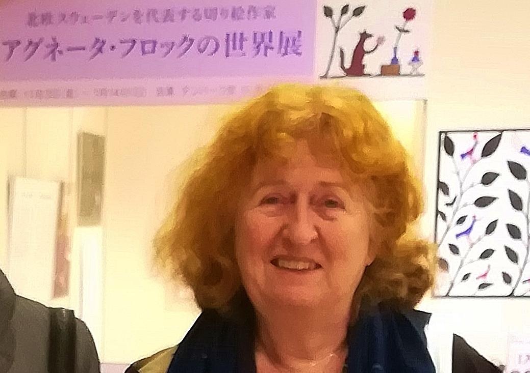 アグネータ・フロックさん スウェーデンを代表する切り絵作家