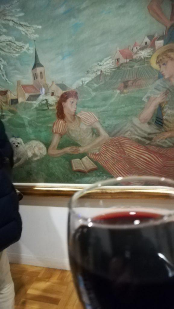 藤田嗣治「ノルマンディの春」とワイン