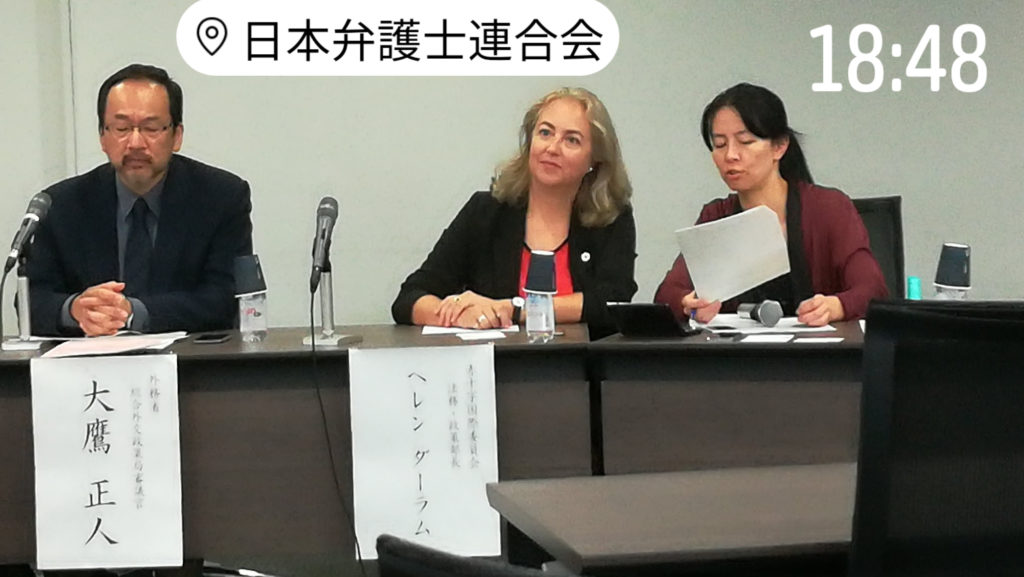 ヘレンダーラム赤十字国際委員会 国際法・政策局長 Director of International Law and Policy at the International Committee of the Red Cross (ICRC)