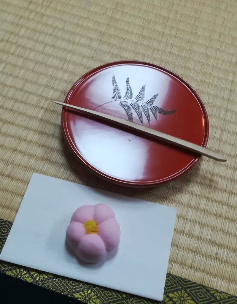 Japanese sweets in the shape of plum blossoms 梅の花の形をしたお菓子""