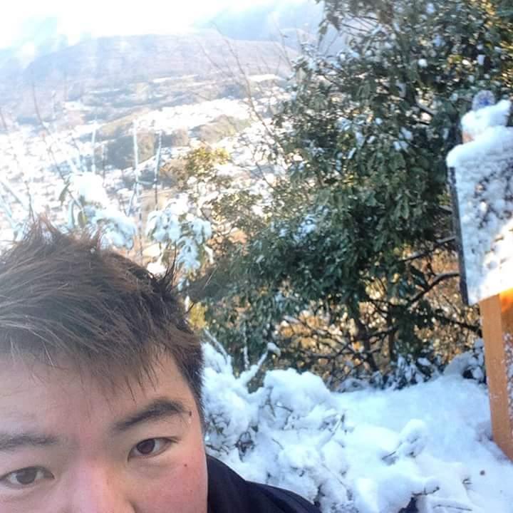 早朝からの岐阜の金華山。⛄❄雪山の銀世界でした。登っていくうちに体も暖かく💓なっていき、とてもいい運動になりました。