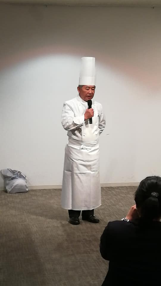 中村勝宏 シェフ。#ミシュラン 1つ星を日本で初めて獲得。洞爺湖サミットでも総料理長を務められた。 WFP #FAO世界食料デ-記念シンポジウム