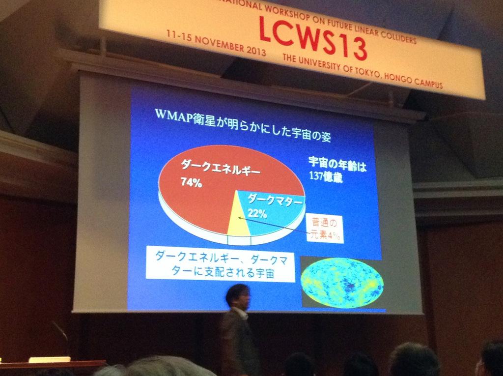 ビッグバンから138億年宇宙はいま LCWS13公演聴講