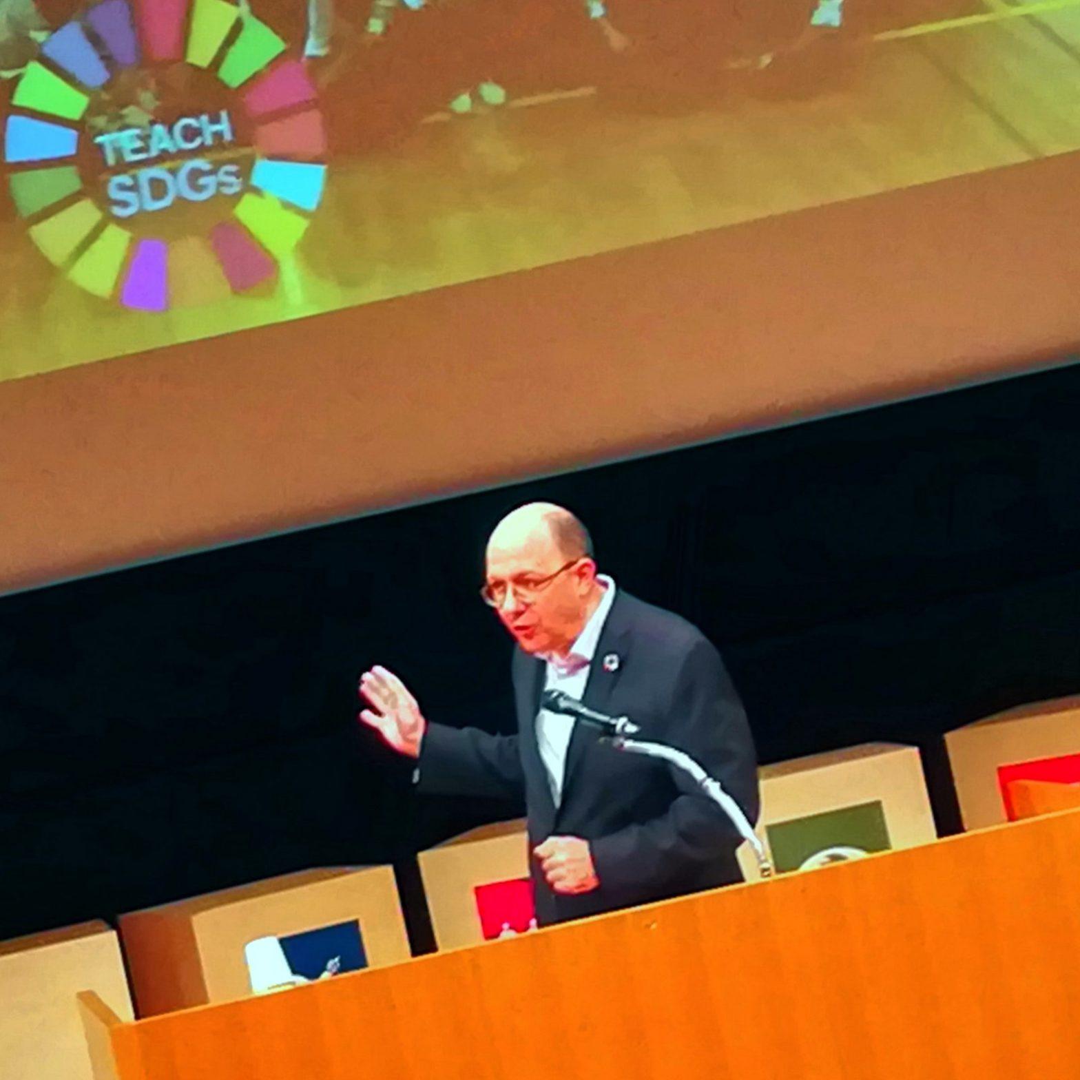 国連SDGsの取組み、自治体でも始まる 基調講演トーマス・ガス国連事務次長