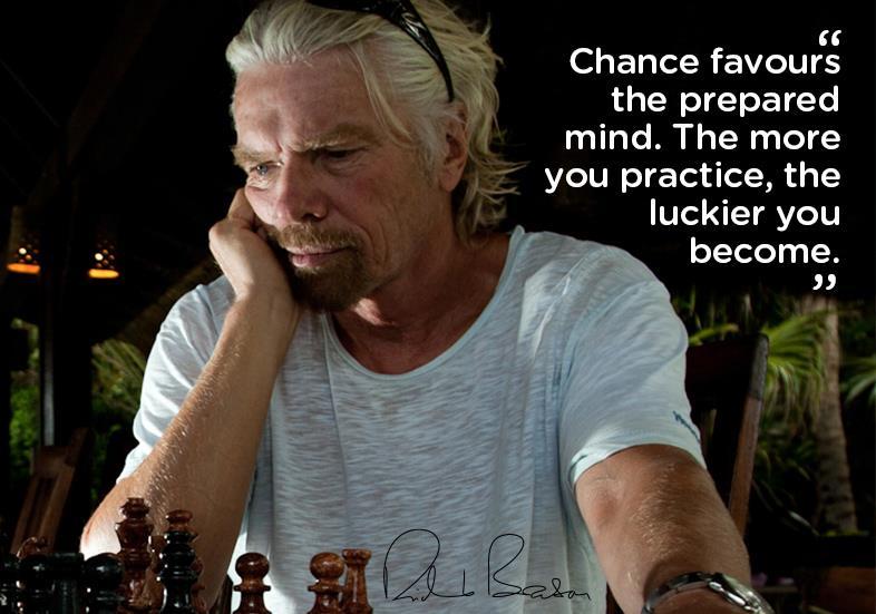 チャンスは準備のできている心を好む