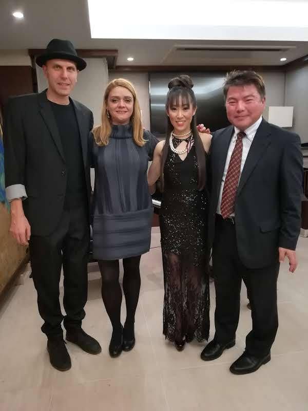 ピアニストAISA IJIRIさんらとセルビア大使館で