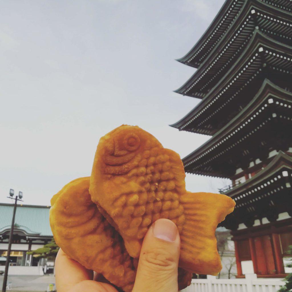 たい焼き2つ 名古屋の某所 覚王山 日泰寺