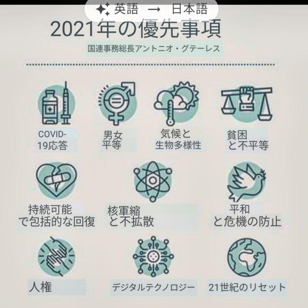 国連2021年優先事項をグテーレス事務総長が語る
