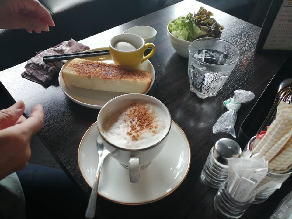 三河安城駅周辺を清掃後にカフェでモーニングをいただく