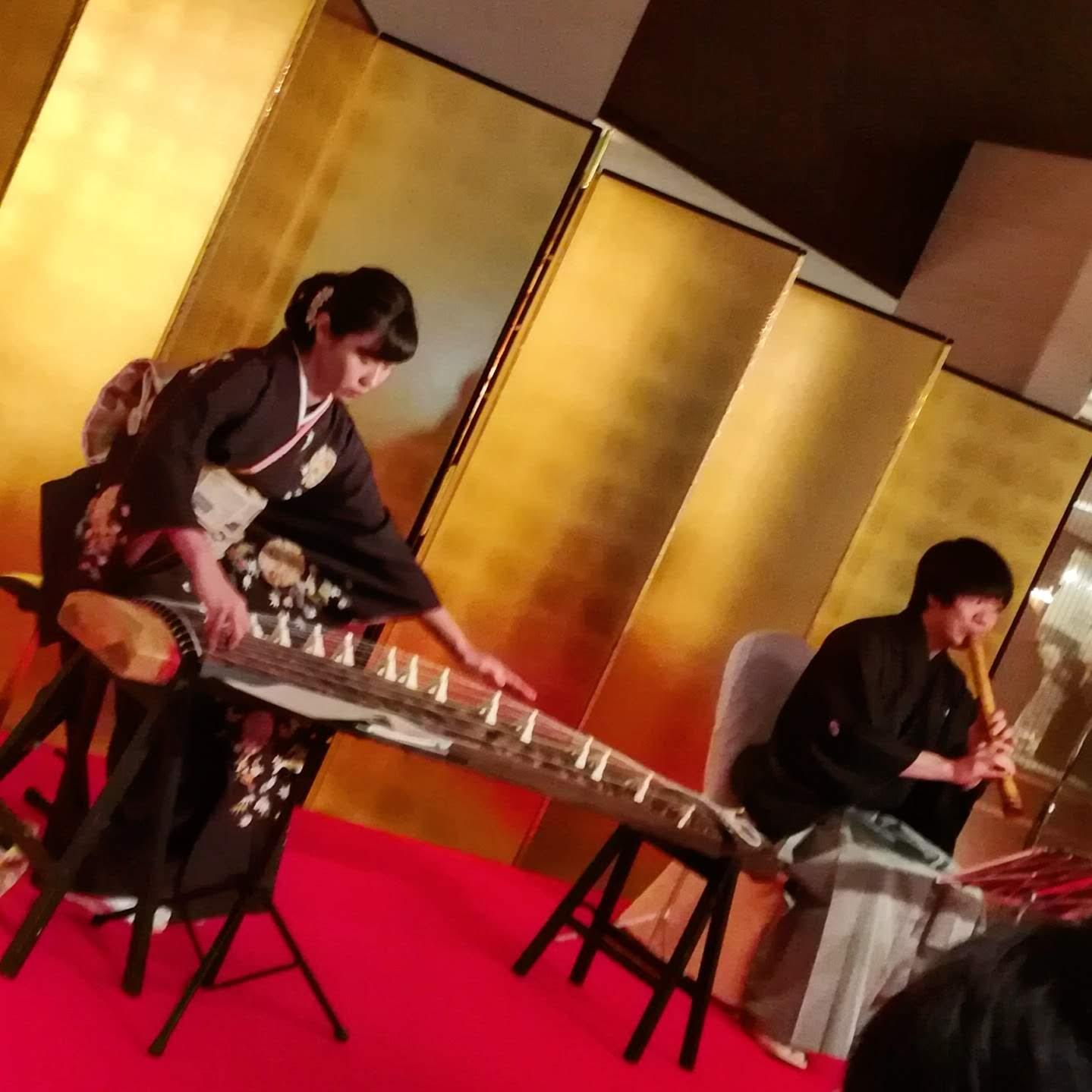 2019年元旦に 三輪聡美さんのお琴 加藤泰山さんの尺八