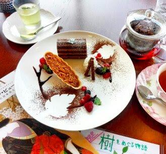 """岐阜・金華山登ってエネルギー消耗した後のおやつに """"樹をめぐる物語""""をテーマにしたスイーツ 岐阜県美術館 のカフェです。"""