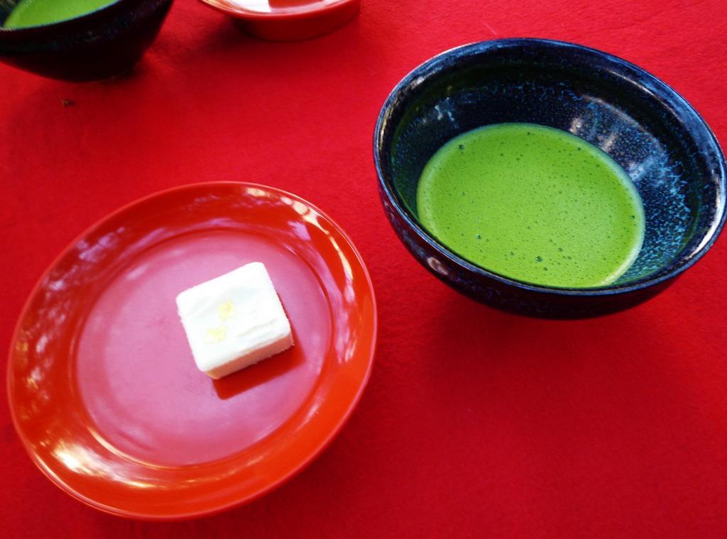 金閣寺で お抹茶
