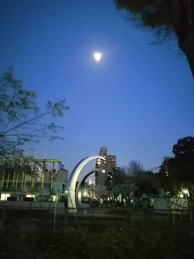 春月夜:ちうねチャイムと月がとっても綺麗